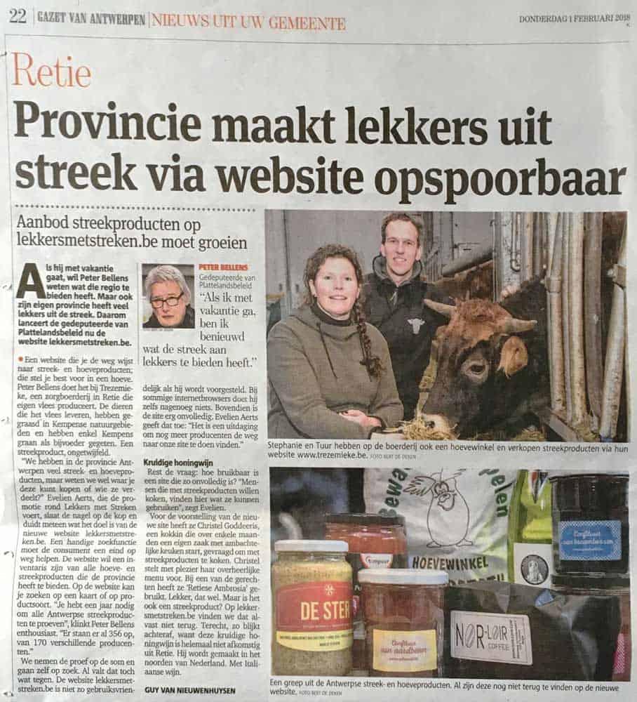 Gazet van Antwerpen, 1 feb 2018